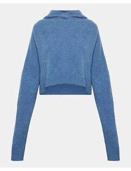 cashmere-crop-hoodie by theory