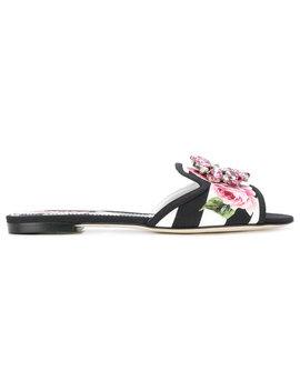 embellished-open-toe-sliders by dolce-&-gabbana