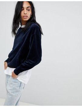 calvin-klein-herma-velvet-sweatshirt by calvin-klein