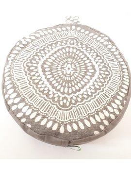 get-comfy-mocha-mosaic-organic-buckwheat-meditation-cushions by etsy