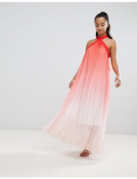 john-zack-petite-high-neck-pleated-maxi-dress by john-zack-petite