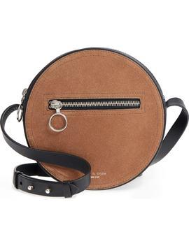suede-&-leather-circle-crossbody-bag by rag-&-bone