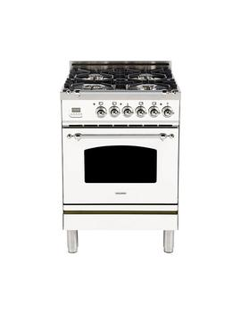 24-in-24-cu-ft-single-oven-italian-gas-range-with-true-convection,-4-burners,-chrome-trim-in-white by hallman