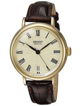 orient-unisex-fer2k003c0-soma-analog-display-japanese-automatic-brown-watch by orient
