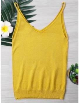 knit-spaghetti-strap-tank-top---bee-yellow by zaful