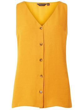 Yellow Sleeveless Tortoiseshell Shirt by Dorothy Perkins