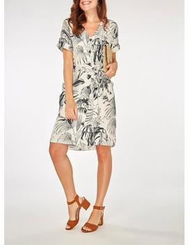 cream-floral-print-shift-dress by dorothy-perkins