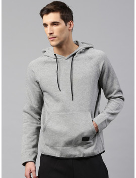 hrx-by-hrithik-roshan-men-grey-melange-solid-hooded-sweatshirt by hrx-by-hrithik-roshan