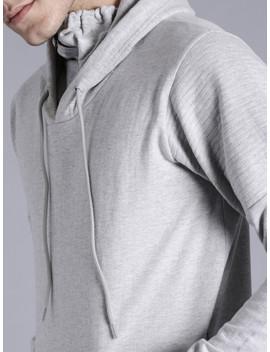 kook-n-keech-men-grey-melange-solid-hooded-sweatshirt by kook-n-keech