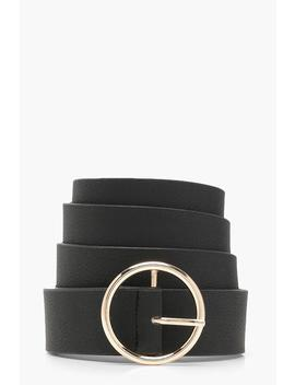 plus-gold-circle-ring-boyfriend-belt by boohoo