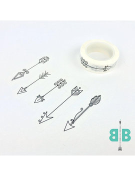 boho-berry-hand-drawn-arrow-washi-tape by etsy