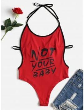 backless-letter-print-slip-bodysuit---chestnut-red-s by zaful