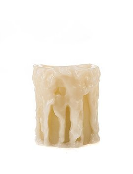 tan-heavy-drip-flameless-pillar-candle,-3x4-in-by-the-amazing-flameless-candle by the-amazing-flameless-candle