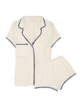 frida-bestickter-jersey-pyjama-aus-stretch-modal by eberjey