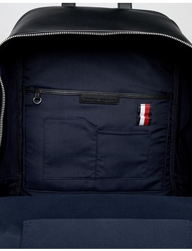 tommy-hilfiger-corporate-mix-faux-leather-backpack-in-black by tommy-hilfiger