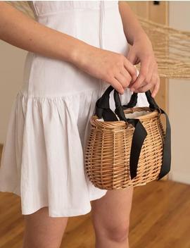 straw-ribbon-mini-bag by pixie-market