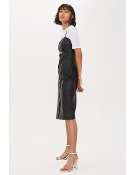 leather-look-slip-dress by topshop