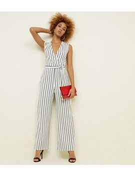 cameo-rose-white-stripe-wrap-jumpsuit by new-look
