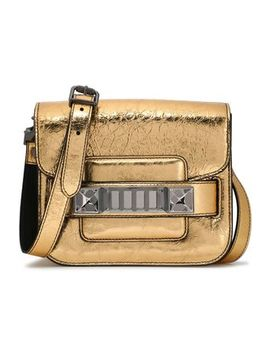 ps11-embellished-mirrored-cracked-leather-shoulder-bag by proenza-schouler