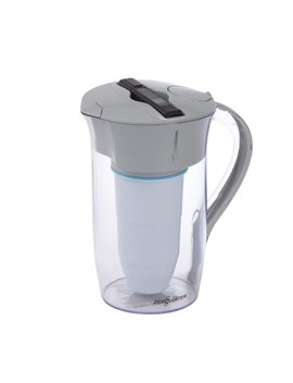 zerowater,-8-cup-round-pitcher-with-free-water-quality-meter,-bpa-free,-nsf-certified-to-reduce-lead-and-other-heavy-metals by zerowater