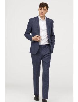 gyapjúkeverék-szűk-nadrág by h&m