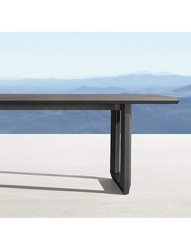 paloma-aluminum-rectanglular-dining-table by restoration-hardware