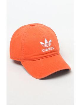 washed-orange-strapback-dad-hat by adidas