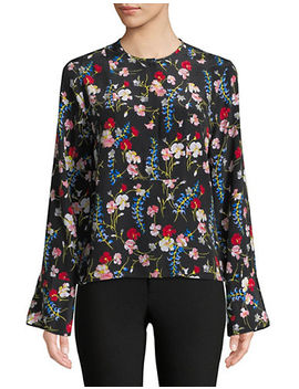 heather-floral-print-silk-blouse by equipment