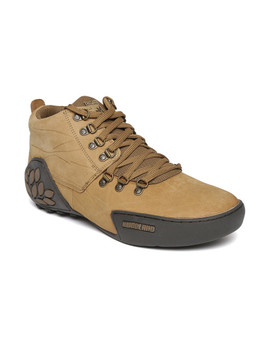 woodland-men-brown-leather-trekking-shoes by woodland
