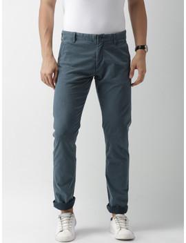 celio-men-blue-slim-fit-printed-chinos by celio