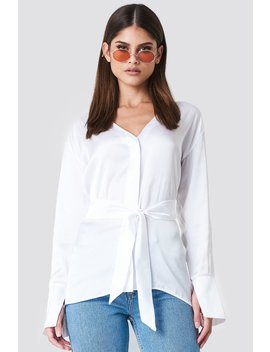 oversized-satin-knot-shirt by sahara-ray-x-na-kd