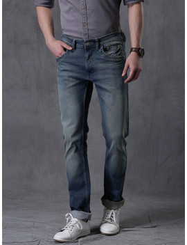 wrogn-men-blue-slim-fit-stretchable-jeans by wrogn