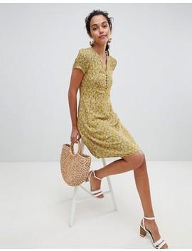 esprit-floral-print-button-front-tea-dress by esprit-