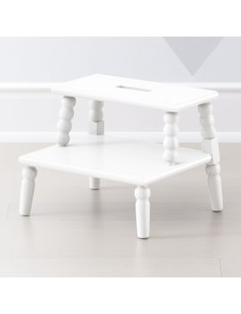 Jenny Lind White Step Stool by Crate&Barrel