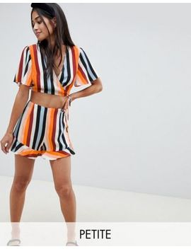 miss-selfridge-petite-exclusive-rainbow-stripe-two-piece-top by miss-selfridge-petite