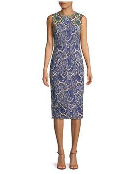 paisley-print-sleeveless-sheath-dress by diane-von-furstenberg