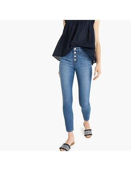 "9"" High Rise Toothpick Jean With Exposed Buttons by J.Crew"