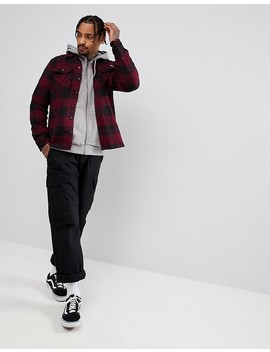 dickies-sacremento-checked-shirt-in-maroon by dickies