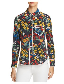 jackie-floral-dot-silk-blouse by tory-burch