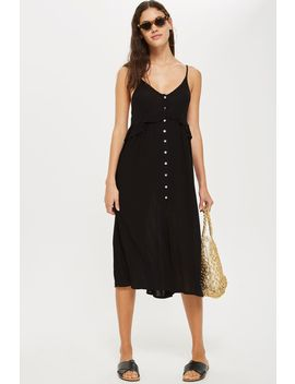 button-frill-midi-dress by topshop