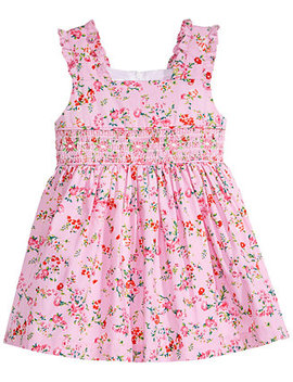 ditsy-floral-print-smocked-dress,-baby-girls by bonnie-baby
