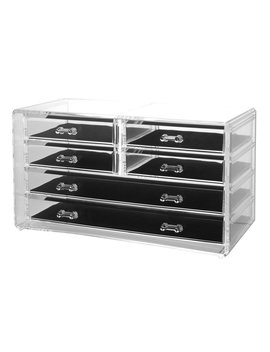 us-acrylic-deluxe-6-drawer-jewelry-chest-or-cosmetic-organizer-with-removable-drawers-and-liners by us-acrylic
