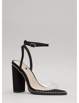 clearly-a-stud-chunky-ankle-strap-heels by gojane