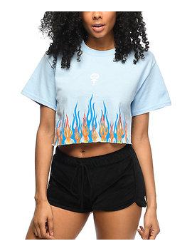 civil-litty-light-blue-crop-t-shirt by civil