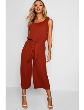 woven-sleeveless-culotte-jumpsuit by boohoo