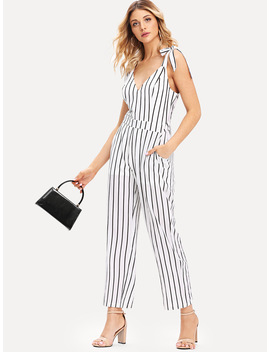 tie-strap-vertical-striped-jumpsuit by romwe