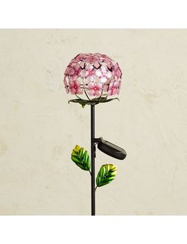 led-solar-pink-hydrangea-garden-stake by pier1-imports