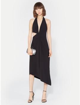 Halter Asymmetric Drape Dress by Halston