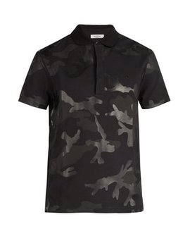 camouflage-cotton-polo-shirt by valentino