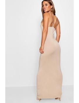 petite-strappy-basic-maxi-dress by boohoo